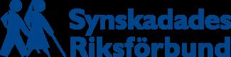 SRF logotyp i blått med gubben och gumman samt text.